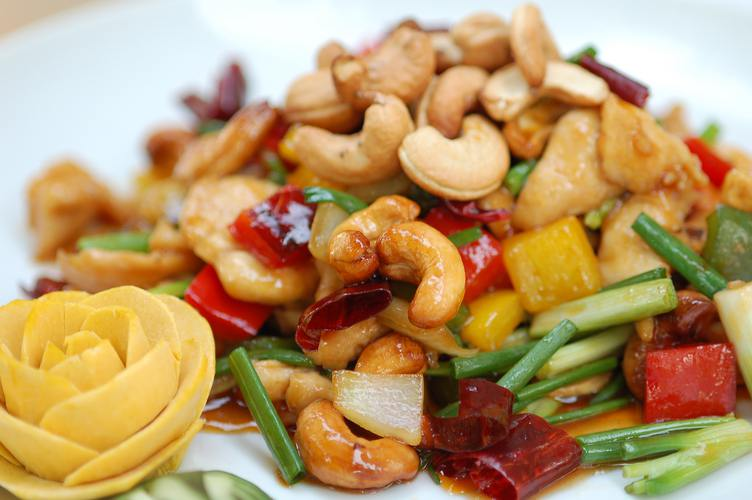Chicken-with-Cashew-Nuts-using decoration of food
