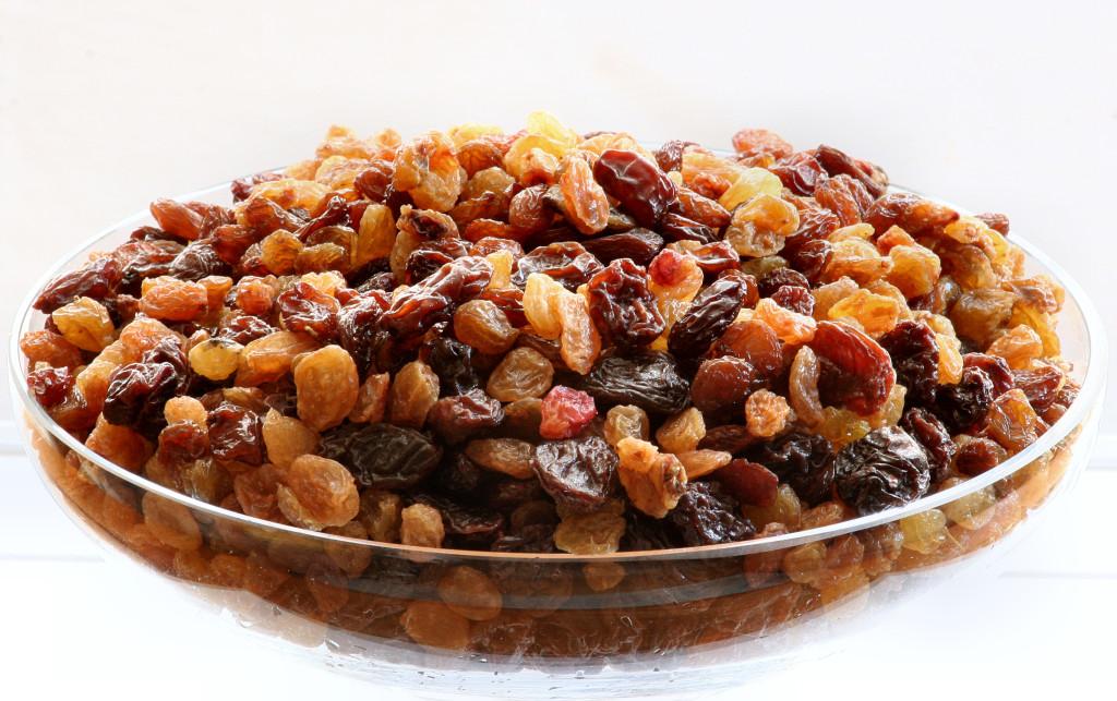 Raisins different types mixed varities