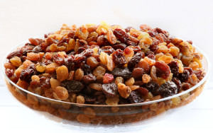 Raisins different types mixed varities
