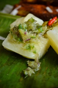 boiled-tapioca-with-green-chilli-dip