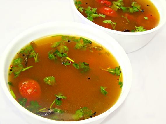 Home made rasam preparation