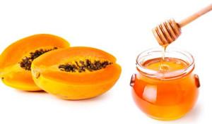 Papaya face pack honey for skin whitening