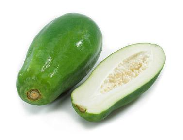 Raw papaya-green papaya