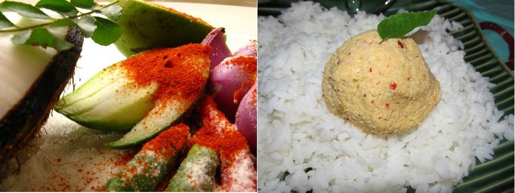 pacha manga chammanthy chutney ingredients -Kerala mango preparations