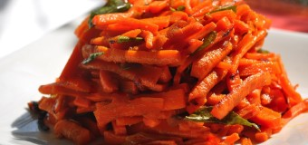 Carrot mezhukkupuratty or carrot stir fry