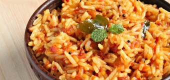 Yummy and spicy tomato rice