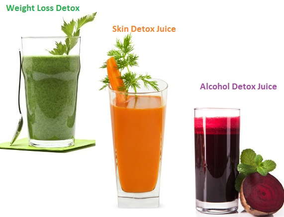 detox with vegetbale juices