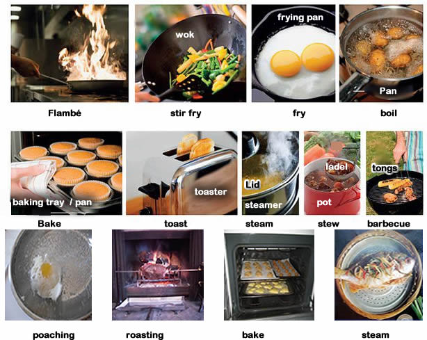 different waysofcooking