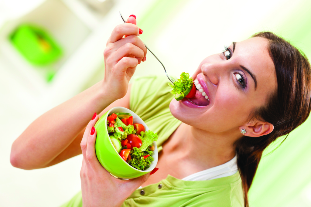 eating fruits and vegetables