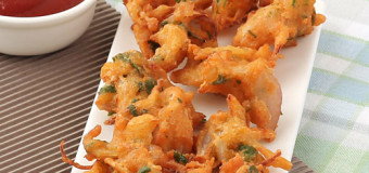 Onion Pakoda-Onion-fritters-Tea time snacks recipe