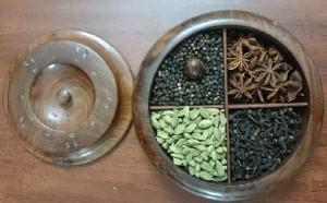 Round Wooden Spices Gift Box