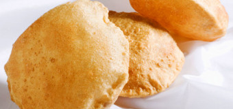Soft and puffed poori or puri