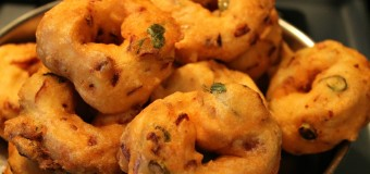 Soft and spicy Uzhunnu vada or Urad dal vada