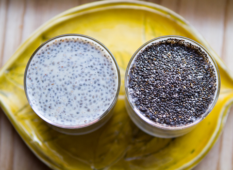 Chia seeds are tiny, brown or black seeds, almost as small as poppy seeds.