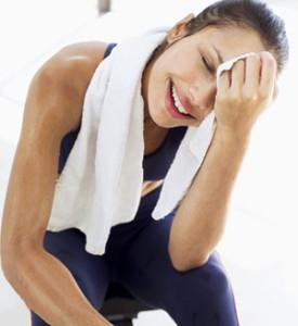 sweat exercise -women exercise myths