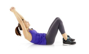 women crunch exercises