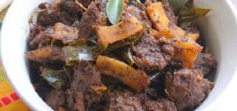 Beef Ularthiyathu or Roasted beef fry