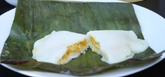 Elayappam or Rice dumplings with jackfruit filling