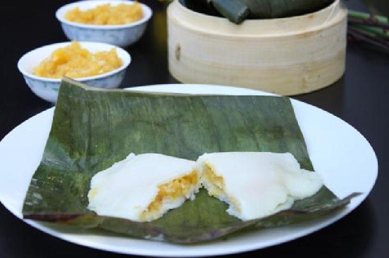 Elayappam or Rice dumplings with jackfruit filling