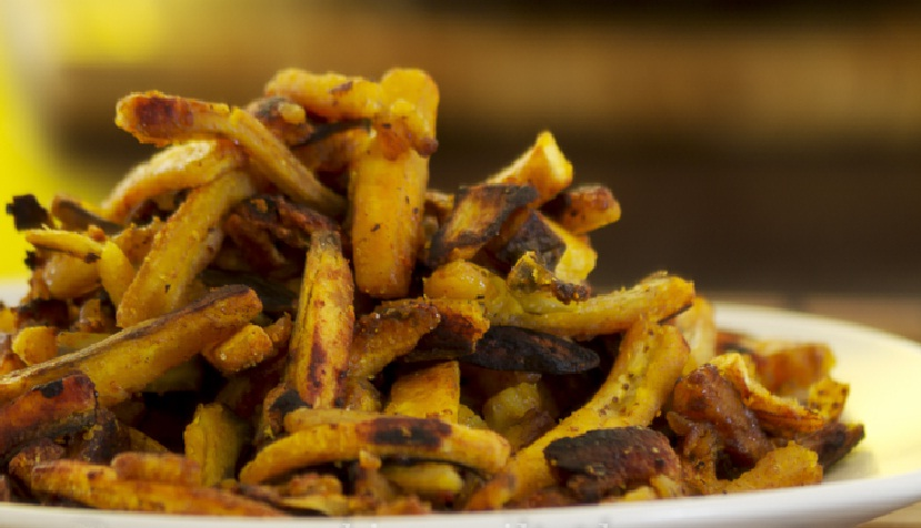 Ethakka Mezhukkupuratti, Kaya mezhukkupuratti or Stir fried raw plantains