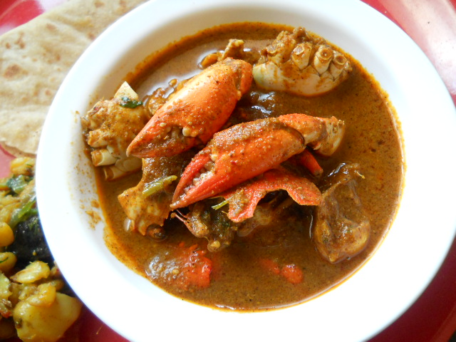 Traditional Kerala Crab curry or Nadan Njandu Curry