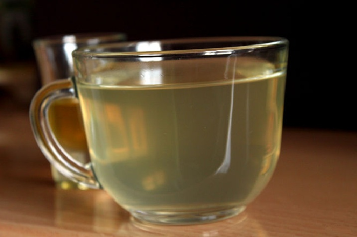 Warm water with honey and lemon juice