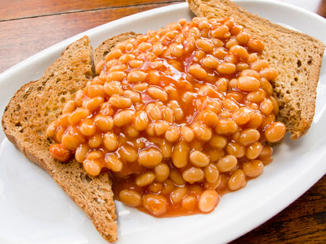beans-on-toast cheese bread