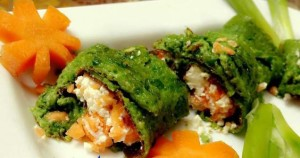 egg spinach sushi cooking recipes
