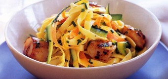 Mixed vegetables and saffron sauce
