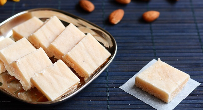 Badam Barfi preparation