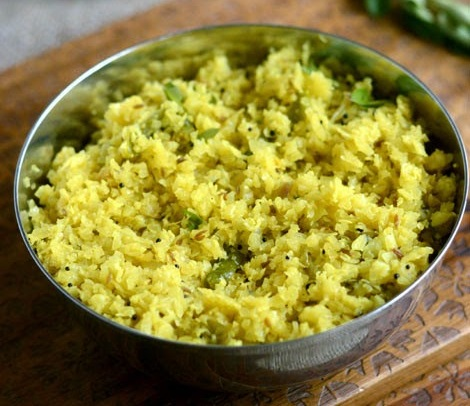 Cabbage thoran, Upperi or Cabbage recipe with grated coconut mixture