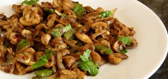 Mushroom cooking recipes – Mushroom Poriyal