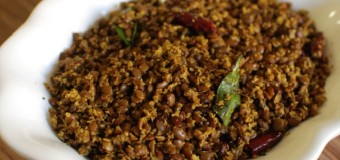 Muthira thoran or Horse gram recipe with grated coconut