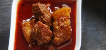 Hot and spicy Pork Vindaloo