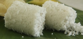 Soft and tasty Puttu or Steamed rice flour cake recipe