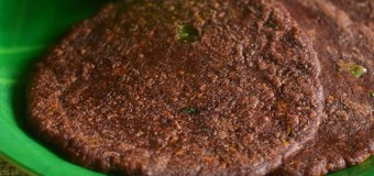 Spicy Finger millet flour cake or Ragi ada