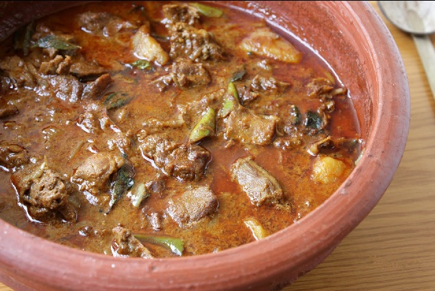 Traditional spicy Duck curry or Nadan tharavu curry