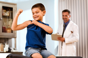 boy with doctor bone disorders