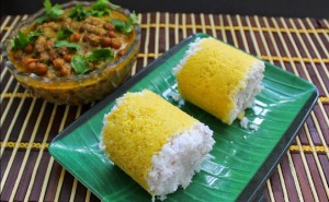 corn puttu cooking recipes with kadala curry