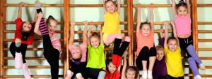 kids exercises in swining