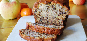 Soft and yummy Banana bread with walnuts