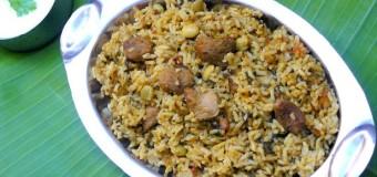 Methi bhath, Menthiya soppina bhath, Methi Bhath With Soya Chunks and Mixed Beans