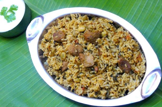 Methi bhath, Menthiya soppina bhath, Methi Bhath With Soya Chunks and Mixed Beans - Healthyliving