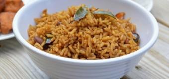 Puliyodharai/Puliyogare or Tamarind rice