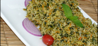 Palak Coriander Pulao – Spicy Chutney Pulao