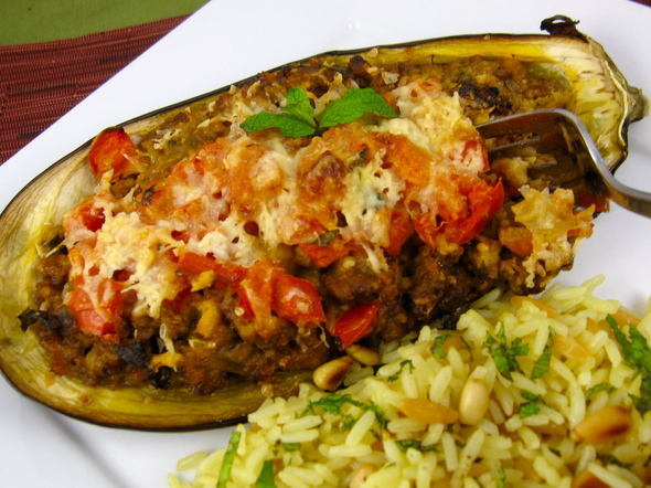 Stuffed Eggplant With Chicken And Vegetables Healthyliving From Nature Buy Online