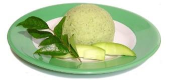 Raw mango chutney or Pacha Manga Chammanthi