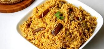 Vangi bath / Vaangi Baath / Vangi Baath or Brinjal rice
