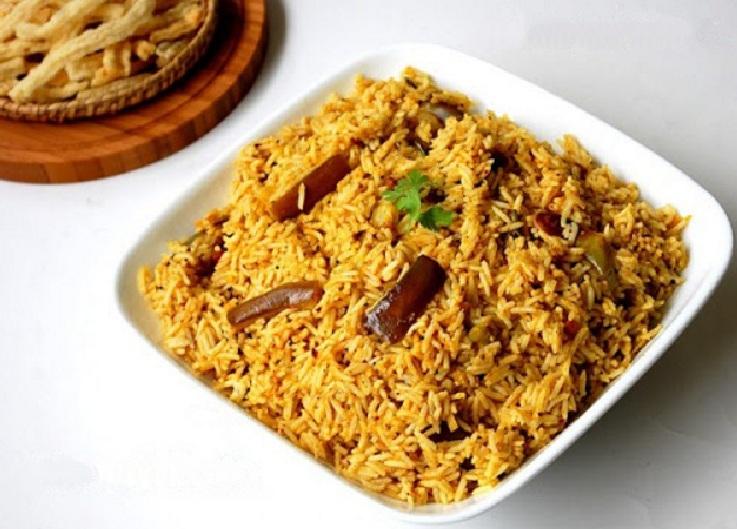 Vangi bath, Vaangi Baath, Vangi Baath or Brinjal rice