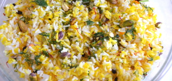 Saffron Rice with almonds and  pistachios